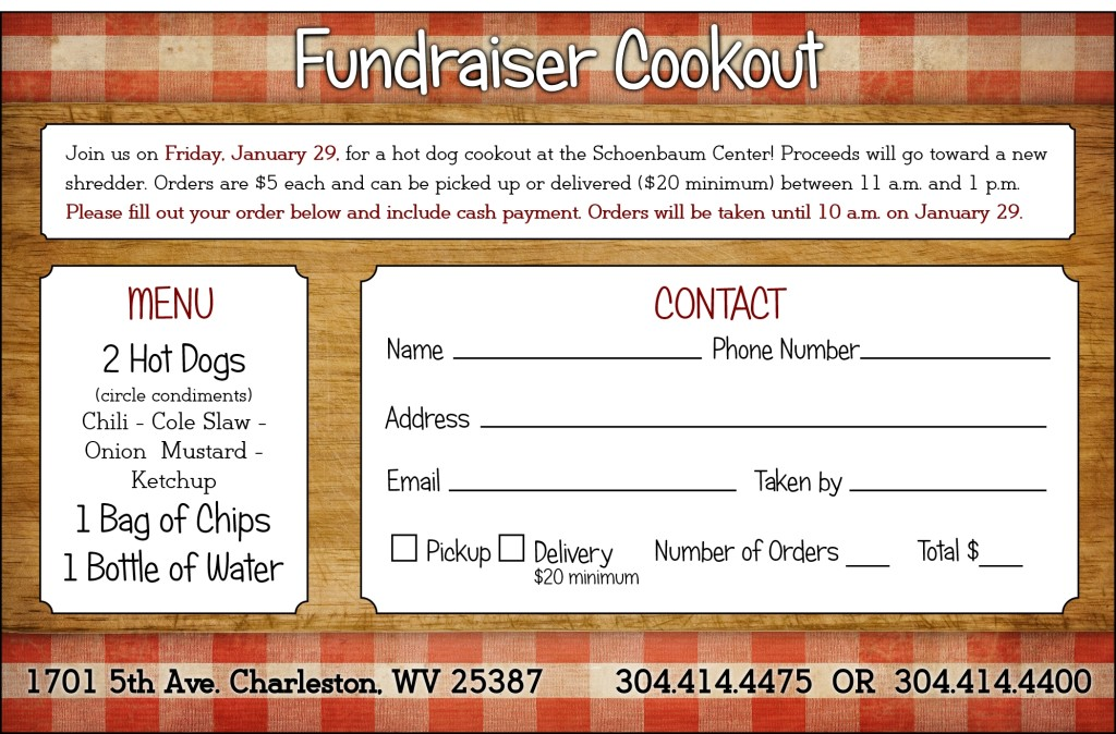 Hot Dog Cookout Fundraiser  Schoenbaum Center