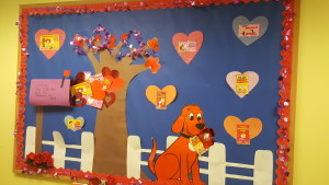 Clifford Valentines Day wall-CCCLC